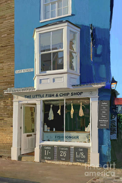 Andrew Jackson Wall Art - Painting - Southwold Little Fish And Chip Shop by Andrew Jackson