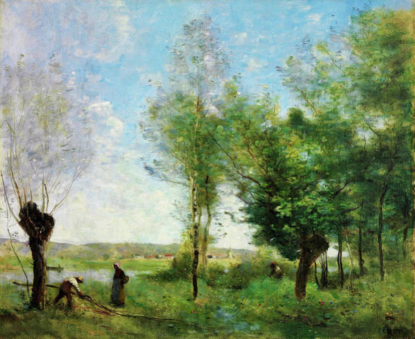 Wall Art - Painting - Souvenir Of Coubron - Digital Remastered Edition by Jean-Baptiste Camille Corot