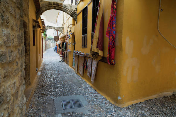 Dodecanese Photograph - Souvenir Shop In A Narrow Street by Martin Child