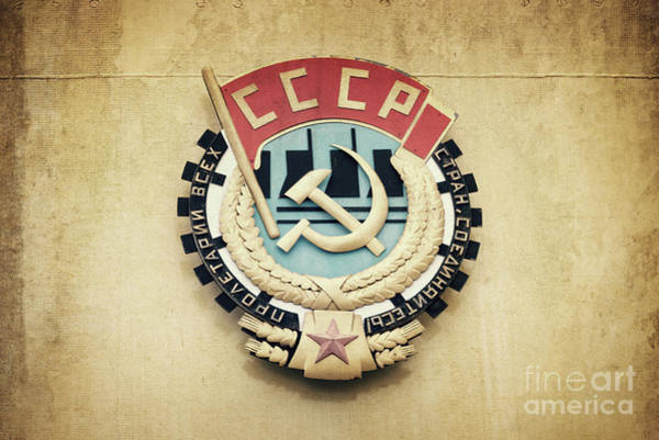 Wall Art - Photograph - Soviet Union Emblem by Delphimages Photo Creations