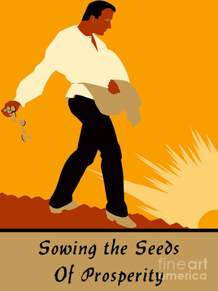 Drawing - Sowing The Seeds Of Prosperity by Aapshop