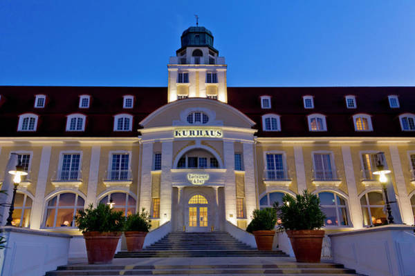 Photograph - Spa Hotel At Night, Binz, Rugen Island by Altrendo Travel