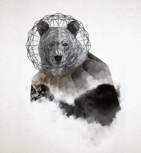 Mystic Digital Art - Space Bear by ArtMarketJapan