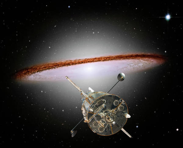 Majestic Digital Art - Space Exploration by Steve Allen