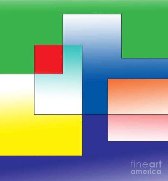 Fluid Digital Art - Space Organization by Alex Caminker