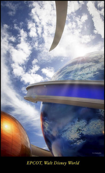 Photograph - Space Pavilion, Epcot, Walt Disney World by A Gurmankin
