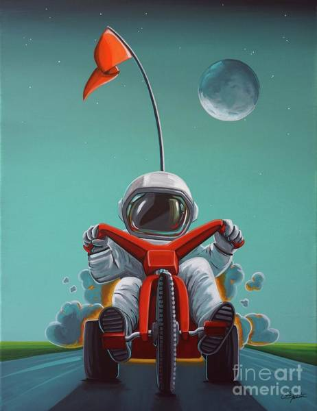 Wall Art - Painting - Space Racer by Cindy Thornton