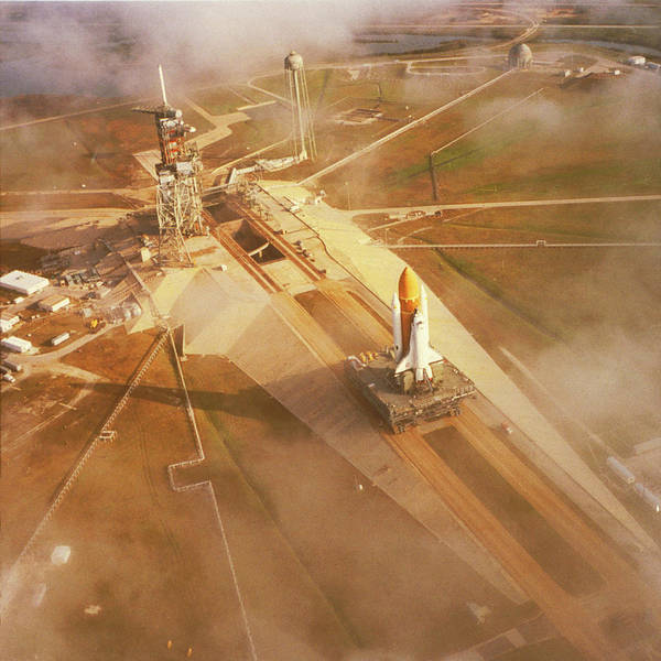 1983 Photograph - Space Shuttle Challenger On Pad 39a by Education Images/uig