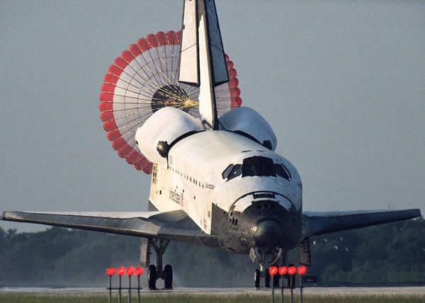Wall Art - Digital Art - Space Shuttle Landing by Filip Hellman