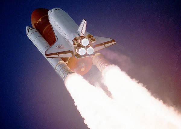 Wall Art - Digital Art - Space Shuttle Roaring In The Sky by Filip Hellman