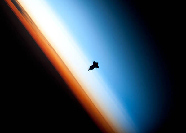 Wall Art - Digital Art - Space Shuttle Silhouette by Filip Hellman