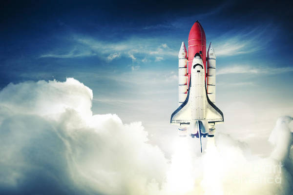 Wall Art - Photograph - Space Shuttle Taking Off On A Mission by Fer Gregory