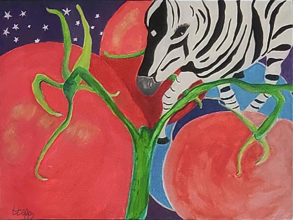 Space Zebra Art Print