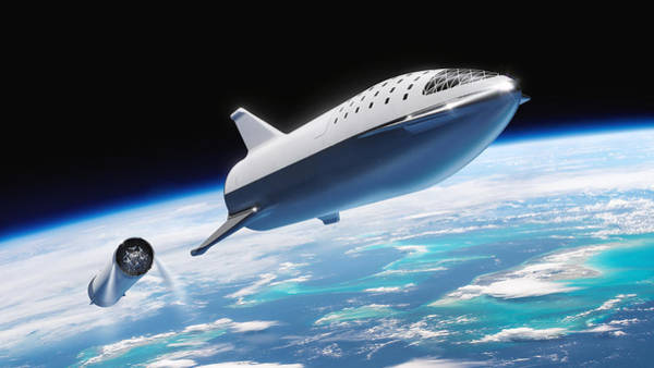 Wall Art - Digital Art - Spacex Bfr And Bfs  by Filip Hellman