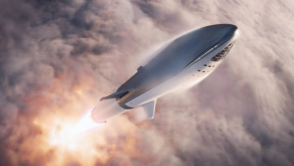 Wall Art - Digital Art - Spacex Bfr Epic Launch by Filip Hellman