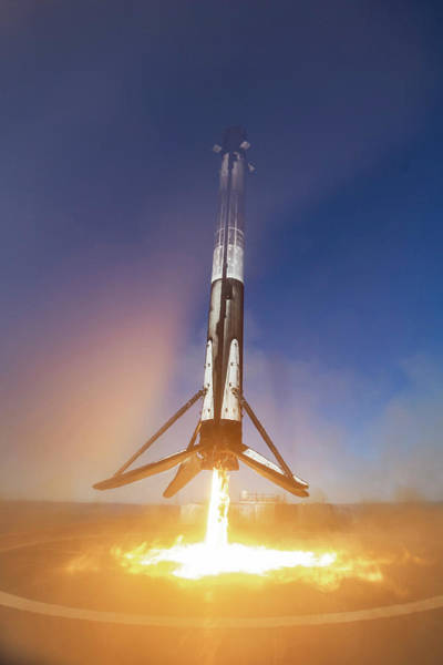 Wall Art - Photograph - Spacex Falcon 9 Booster Landing by Filip Hellman