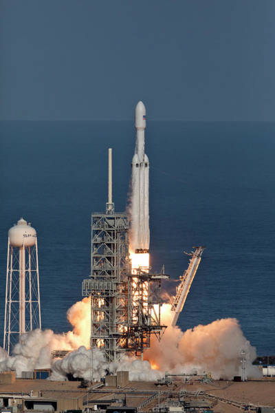 Wall Art - Photograph - Spacex Falcon Heavy Demo Flight - Liftoff by Filip Hellman
