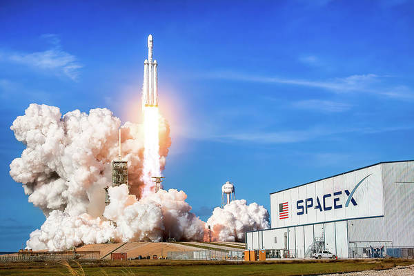 Falcons Photograph - Spacex Falcon Heavy Launch 1 by Spacex