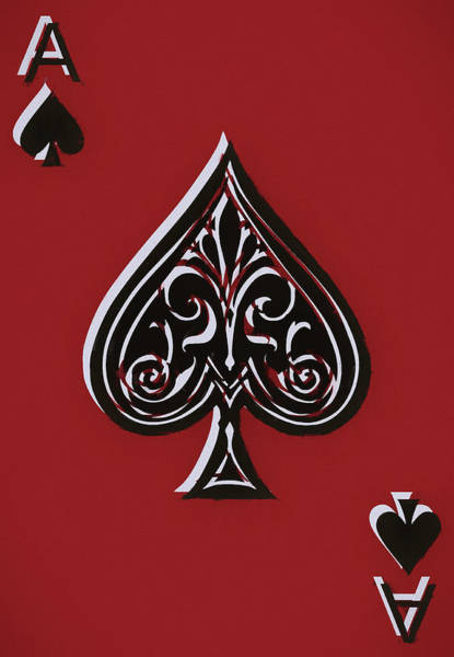 Wall Art - Mixed Media - Spades Ace Card by Dan Sproul
