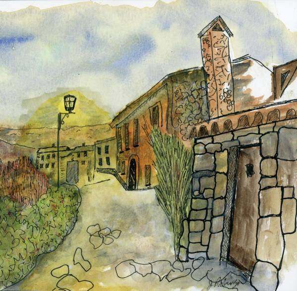 Painting - Spain Medieval Village by Judy Robinson