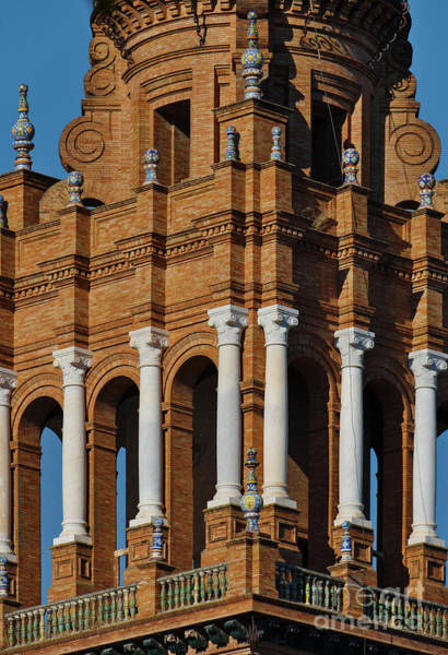 Photograph - Spain Square Tower Detail In Seville by Angelo DeVal
