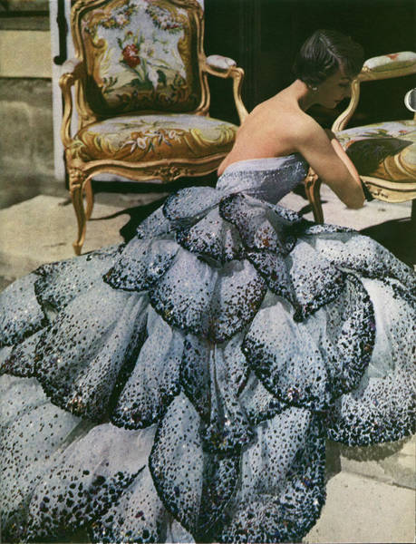 Photograph - Spangled Christian Dior Evening Gown, 1949 by Horst P Horst
