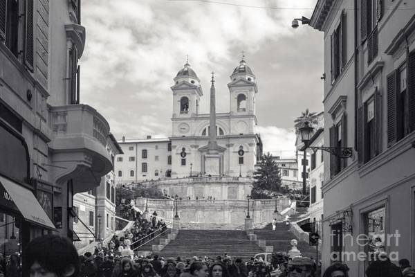 Wall Art - Photograph - Spanish Steps Rome - At The Bottom Of Trinity Church by Stefano Senise