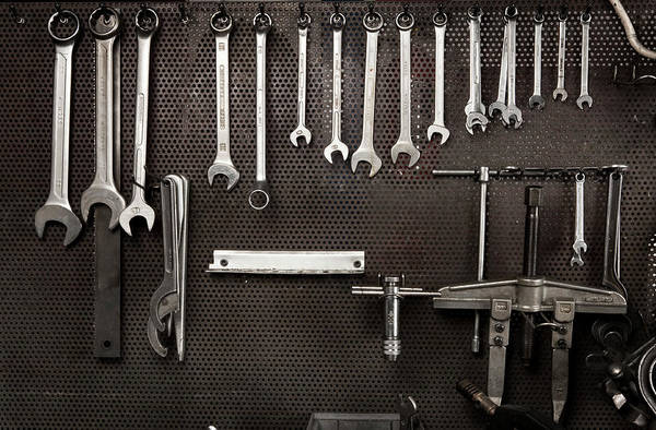 Adjustable Wrench Wall Art - Photograph - Spanners In Mechanical Industry by Ilbusca