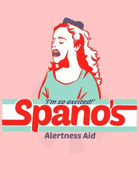 Wall Art - Drawing - Spano's Alertness Aid by Ludwig Van Bacon