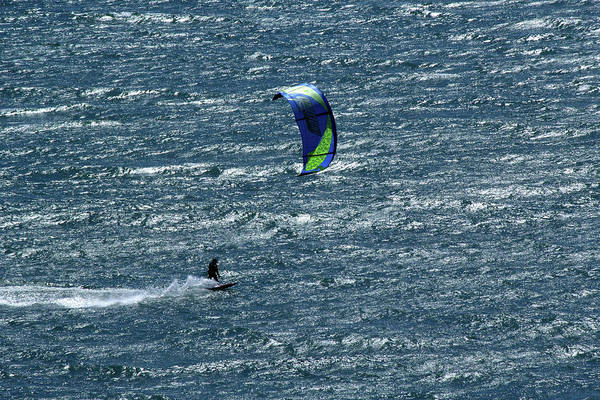 Photograph - Sparkling Kite Surfers by Marie Leslie
