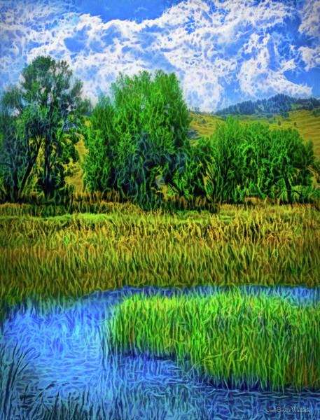 Digital Art - Sparkling Lake Morning by Joel Bruce Wallach