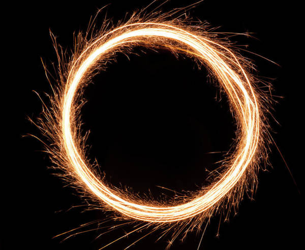 Fire Ring Photograph - Sparkling Ring Of Fire by Jamesbrey