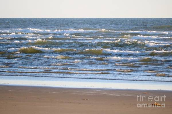 Wall Art - Photograph - Sparkling Waves With Beach by Carol Groenen