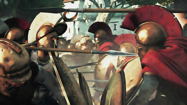 Painting - Spartan Army At War - 25 by Andrea Mazzocchetti