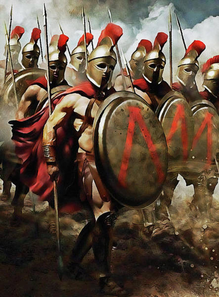 Painting - Spartan Army At War - 26 by Andrea Mazzocchetti
