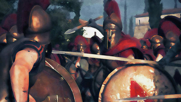 Painting - Spartan Army At War - 27 by Andrea Mazzocchetti