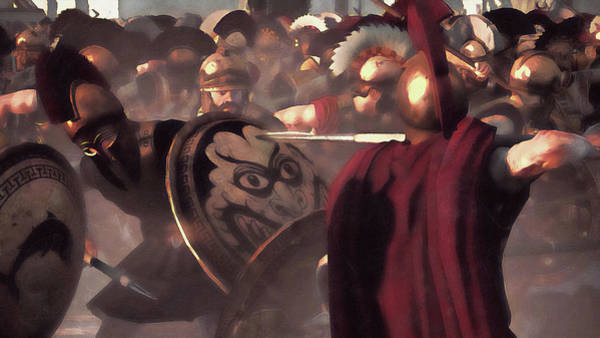 Painting - Spartan Army At War - 28 by Andrea Mazzocchetti