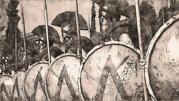 Painting - Spartan Army At War - 30 by Andrea Mazzocchetti