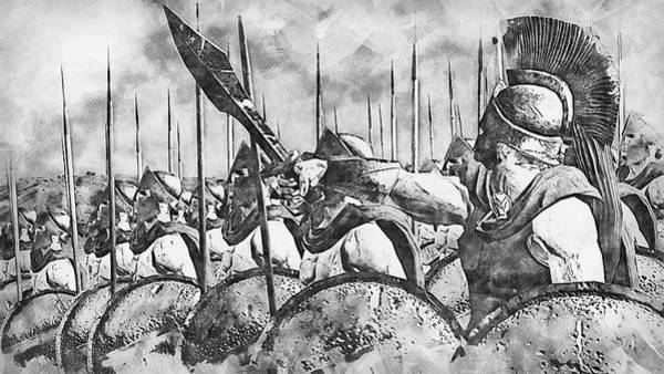 Painting - Spartan Army At War - 33 by Andrea Mazzocchetti
