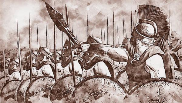Painting - Spartan Army At War - 34  by Andrea Mazzocchetti