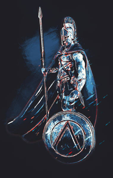 Painting - Spartan Hoplite - 46 by Andrea Mazzocchetti