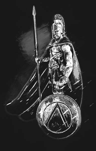 Painting - Spartan Hoplite - 47 by Andrea Mazzocchetti