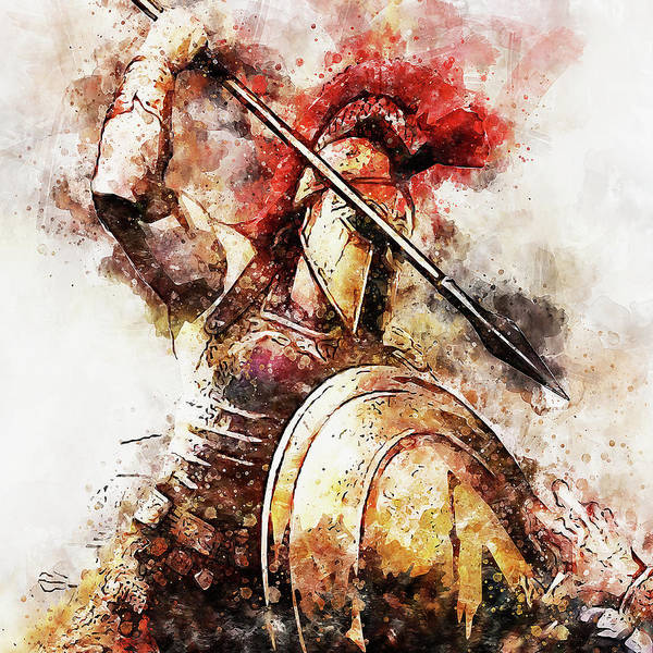 Painting - Spartan Hoplite - 54 by Andrea Mazzocchetti