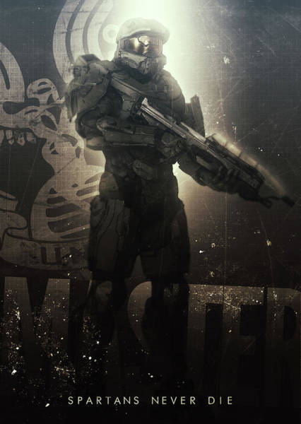 Wall Art - Digital Art - Spartans Never Die by Rykker C