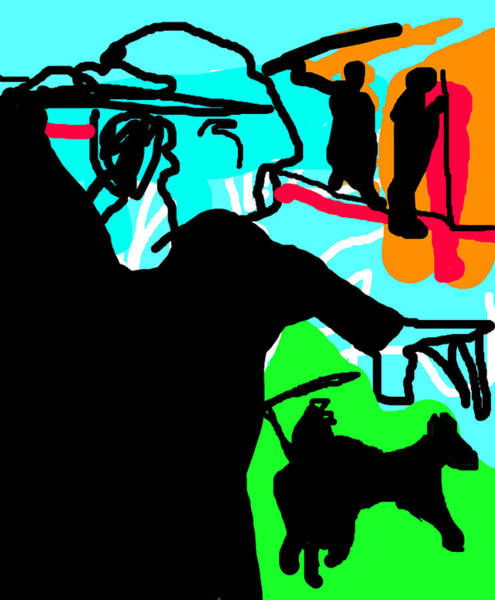 Digital Art - Spear Throwers 1 by Artist Dot