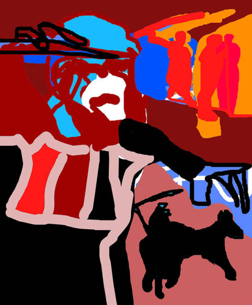 Digital Art - Spear Throwers 2 by Artist Dot