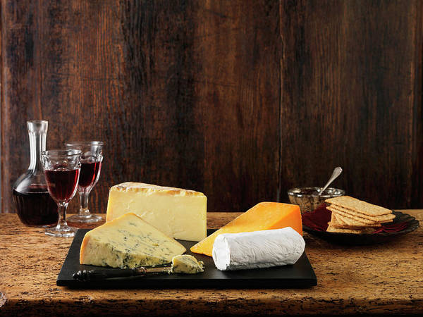 Cracker Photograph - Speciality Christmas Cheeseboard by Diana Miller