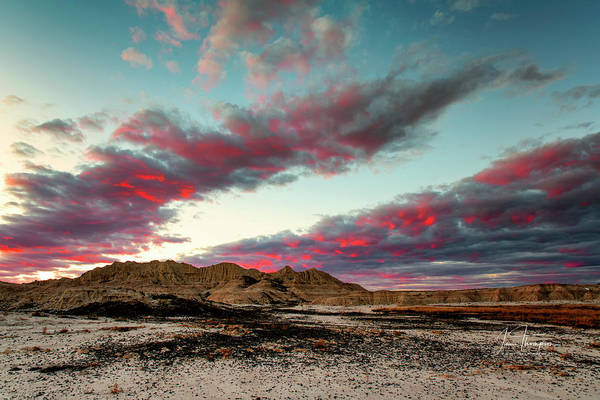 Photograph - Spectacular Badlands Sunset by Jim Thompson