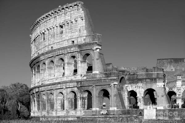 Wall Art - Photograph - Spectacular Colosseum Black And White by Stefano Senise
