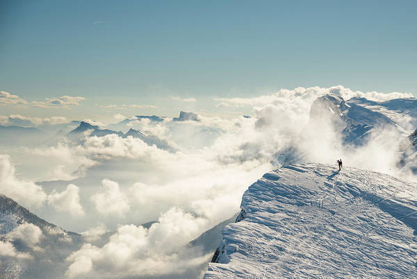 Extreme Sport Photograph - Spectacular Mountain Landscape In Winter by Marco Maccarini